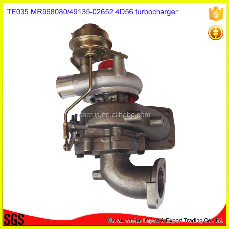 TF035 turbocharger 49135-02652 49135 02652 MR968080 Turbo For <strong>Mitsubishi</strong> <strong>L200</strong> 02- Challanger Pajero III W200 Shogun 2001-07 4D56
