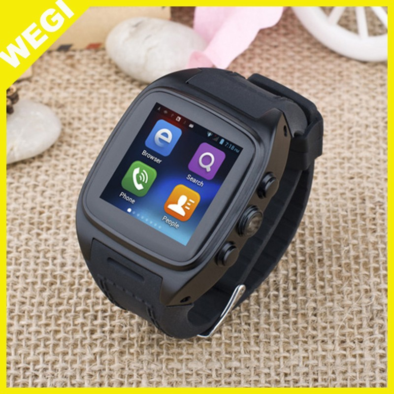 x01Smart Watch 1.54 Inch 3G Android 4.4 MTK6572 Dual Core Phone Watch 2.0MP Camera Email GPS WIFI reloj inteligente