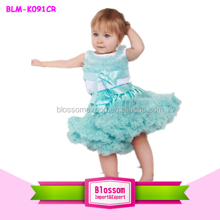 Trendy New Year Girl Ballet Tutu Dress solid puffy Kids Pettiskirt Wholesale Childern's Party kids dresses for girls 2016