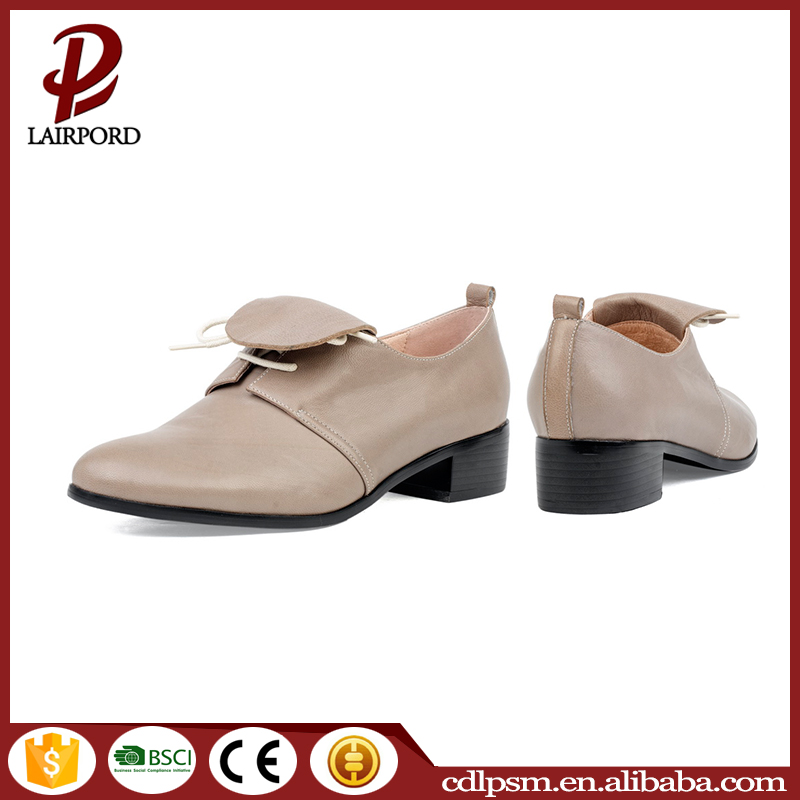 2016 Made in china genuine leather customized italian sexy ladies shoes