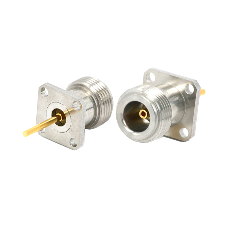 N Coaxial Female 4 hole Flange Mount RF Connector