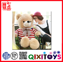hot selling new for kid brown soft teddy bears with fish conform to CE/EN71 for friends gifts