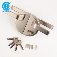 Safe Sliding Zinc Alloy Handle Glass Door Lock