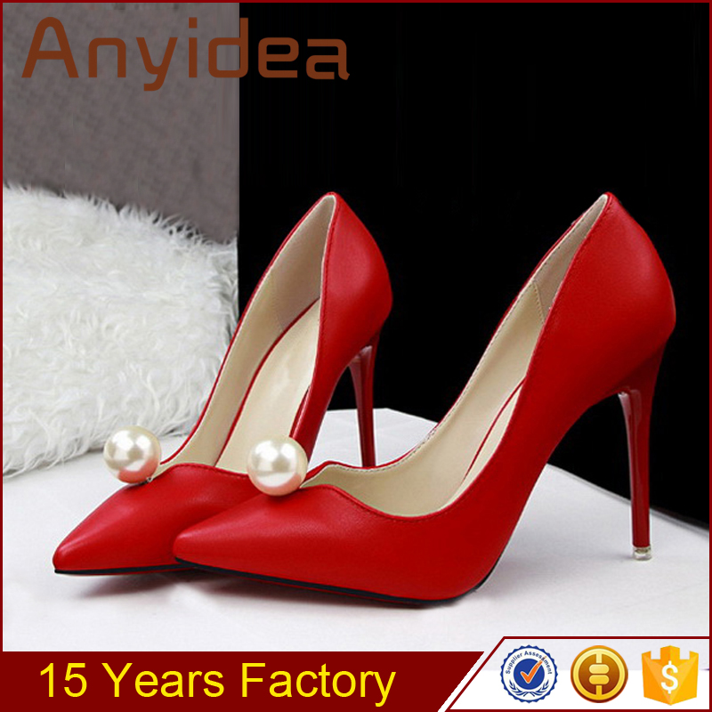high heel shoes wholesale female wedding shoes Red wedding for 2017 ladies high heels