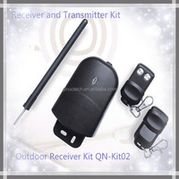 Waterproof RF rolling code outdoor transmitter and receiver long range for garage door 100m operating distance QN-Kit02