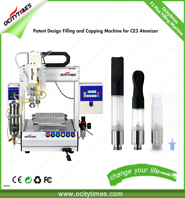 US best selling OCITYTIMES F2 plus 510 E Cigarette no leak capping thick oil bud cartridge filling machine in automatic