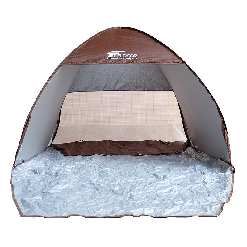 Low Cost Brown Backpacking Tent With Breathable Gauze