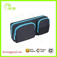 Promotion functional big capacity canvas pencil case