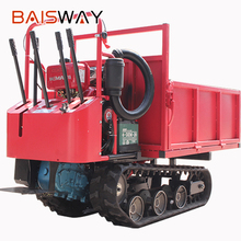 Walk-behind mini crawler dump truck with hydraulic system