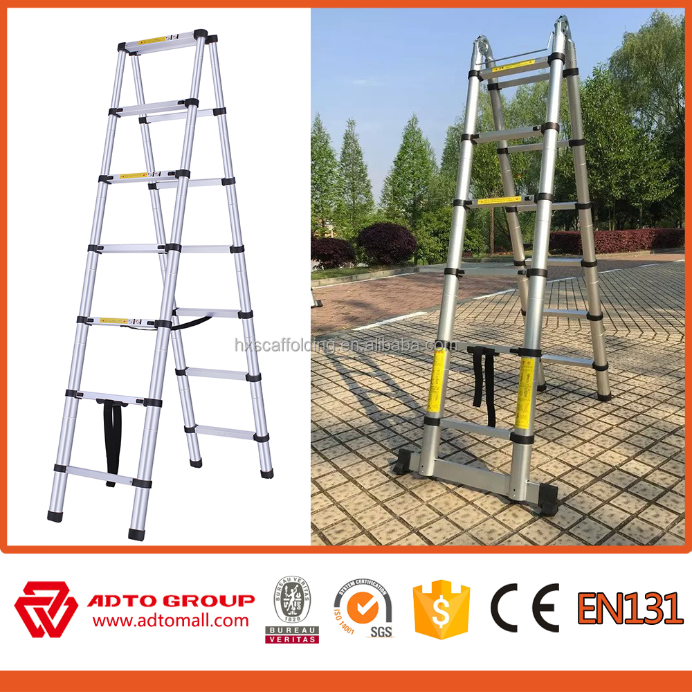 Aluminum Extension Telescopic Ladder with finger protection