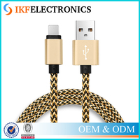Original Metal Nylon Braided 3M Mobile Phone Cables Long Charger Micro USB Cable For iPhone 5 5S 6 6S Plus
