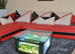 Square Shape Marble Grain Acrylic aquarium table fish tank Integrated Accessories BF09-41043