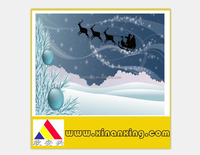 2017 Halloween decration card gift card for Christmas happy new year card
