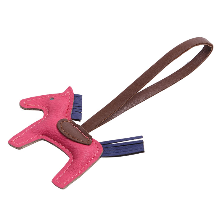 New Arrival Fashion Leather Horse Shape Keychain Holder With Lanyard