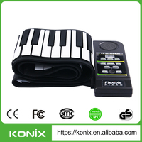 Portable piano 88 keys roll up piano from Konix