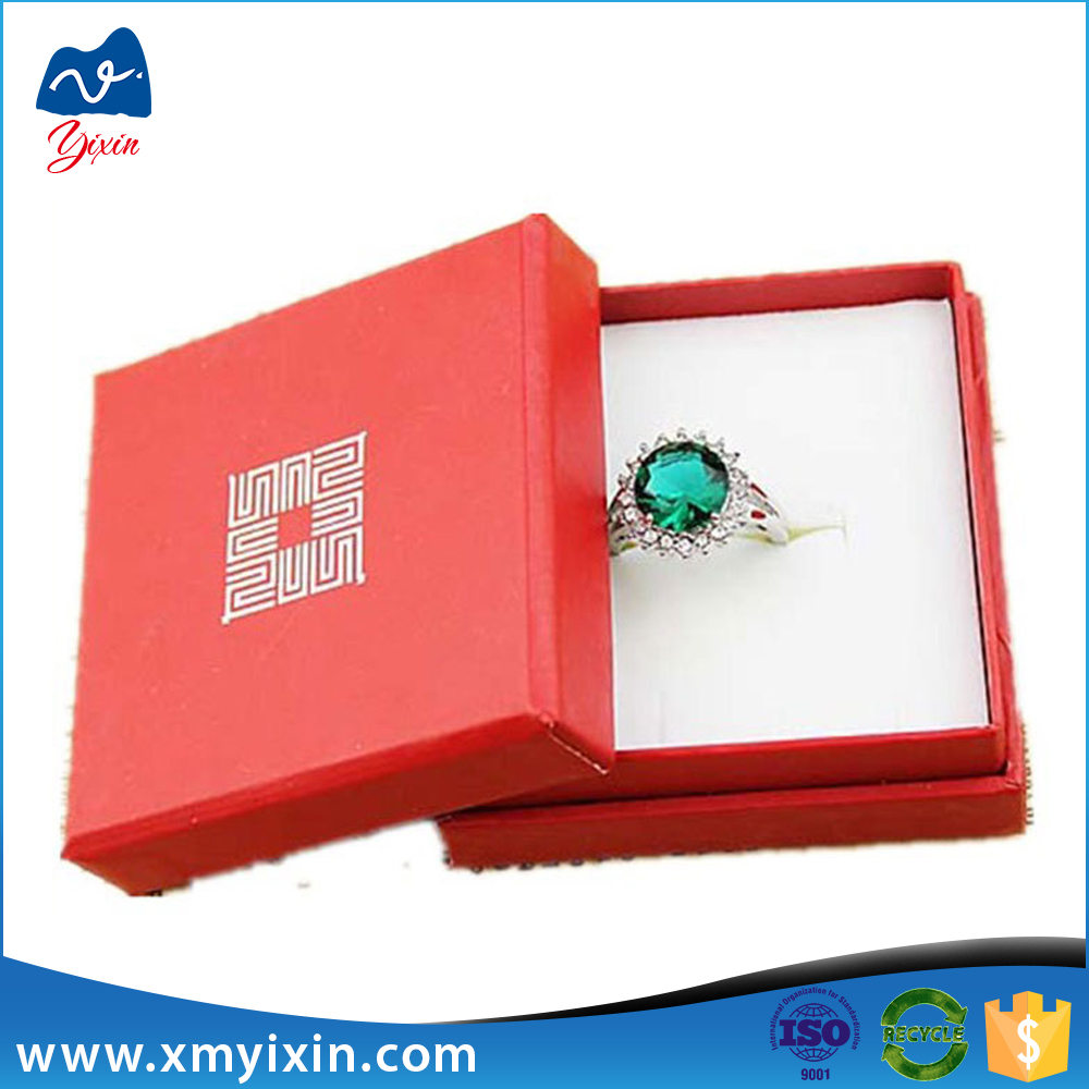 Factory custom pretty cheap ring jewelry box paper