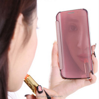 mobile accessories New Flip Smart Mirror View Phone Cover Case Cover For Samsung Galaxy S6 s7 EDGE