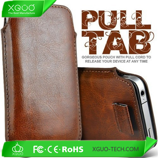 PU pouch leather case for samsung galaxy grand duos