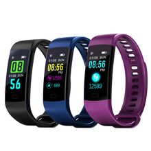 Colorful display screen fitness tracker sport bracelet heart rate monitor blood pressure GET y5 <strong>smart</strong> <strong>watch</strong>