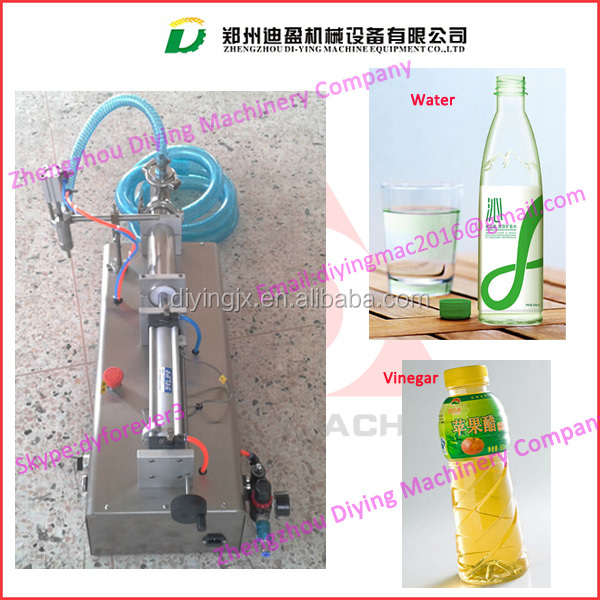 Pneumatic semi-auto liquid filler machine for milk,water,oil,honey,vinegar