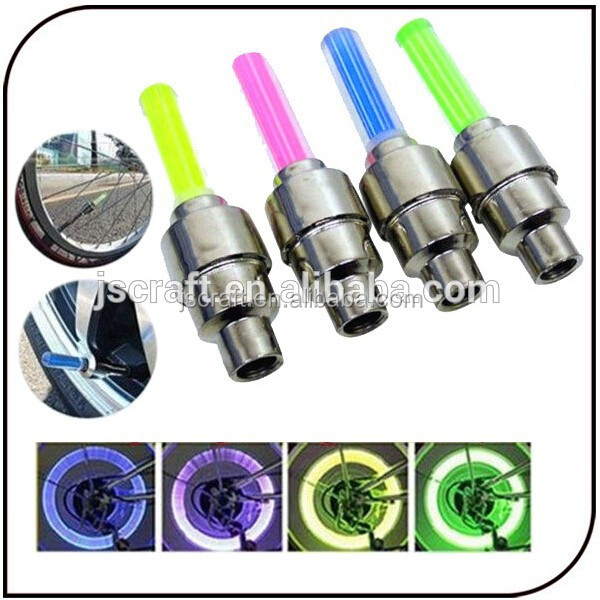 cheapest bike decoration 4 colors hot sale colorful button cell AG10 led bike wheel light