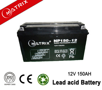 Hot agm vrla dry battery 12v 150ah with price