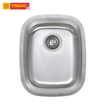 China Factory Deep Single Bowl Undermount Handmade Stainless Steel Commercial Sink