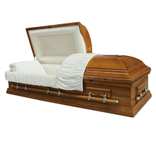 Adult application funeral coffin for the dead with adjustable mattress casket wholesale