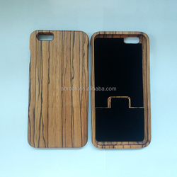 Real Zebra wood phone case for iphone 6