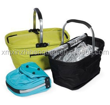 XZH 24L high quality foldable picnic baskets with aluminium frame China manufacturer