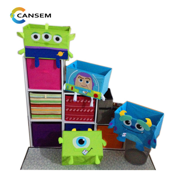 Toy story embroider storge cardboard organize collapsible storage bin