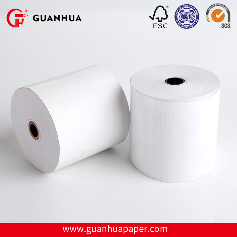 Money receipt machine use white thermal paper roll