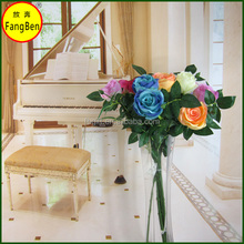 2head high quality artificial rose flowers long stem for decoration for home and hoteland wedding(FB016178)