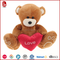 China supply customize wholesale teddy bear with heart for valentines day