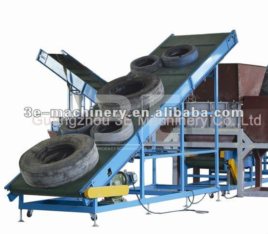 Good Quality of 3E's used rubber/tire recycling machine, use for wide.