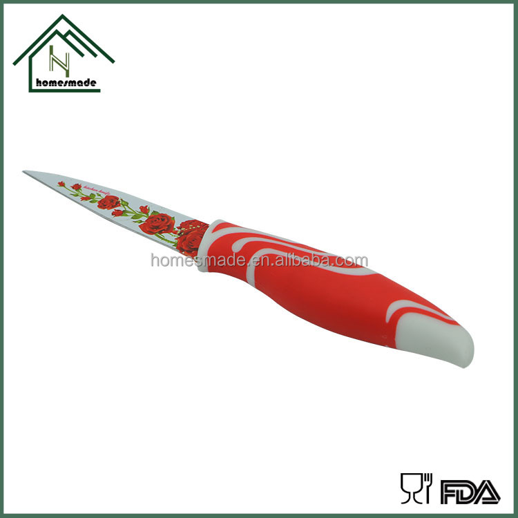 HM-022 9-piece kitchen coating knife with gift color box for selling promotion