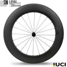 full carbon 700c clincher wheel 88mm 28 inch 20h front 24h rear carbon wheelset with 3k matte finish and black powerway hub R13