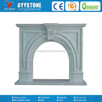 High quality granite stone fireplace surrounds for house