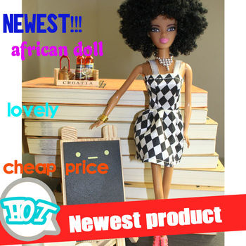 Hot black fashion doll new plastic fashion doll black doll