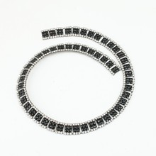 crystal beads resin and rhinestone chain trim