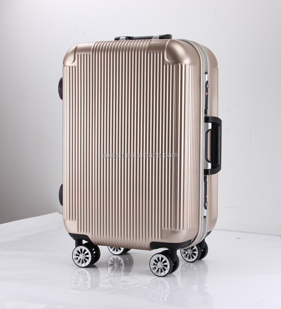 ABS PC waterproof sky travel comfortable trolley luggage bag