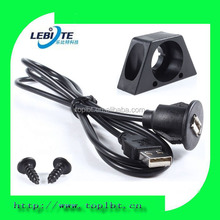 In Car Marine Dashboard Flush Mount USB Extension Cable Lead