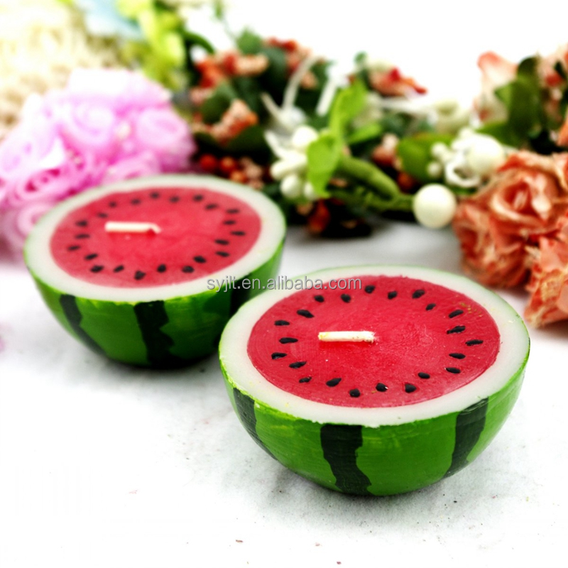 wholesale beautiful watermelon flesh candle / various fruit candles