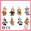 GSV SEDEX Factory lovely animal cheap custom cute mini plush monkey keychain