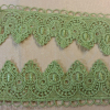 Gorgeous green embroidery Flower Lace Trimming with flower patterns