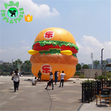 Big Inflatable Hamburger With LOGO Printing For Advertising Sale W05112
