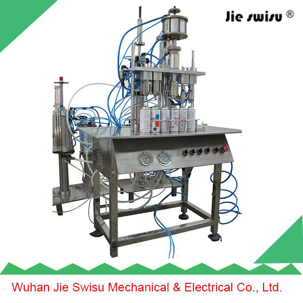 Hot-sale five heads automatic aerosol filling machine, pu foam gun