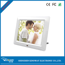 "China 13 years factory! 7"" inch LED/LCD screen MP4 video support SD card/USB flash drive battery operated digital photo frame"