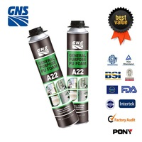gun type spray pu foam for sealing and filling gaps ,joint,cracks and cavties