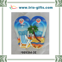 3D Poly Resin Fridge Magnet Slipper Design